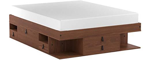 Funktionsbett Bali 160x200 - Bett mit viel Stauraum und Schubladen, optimal für kleine Schlafzimmer - Modernes Stauraumbett aus Kiefer Massivholz - Preis inkl. Lattenrost