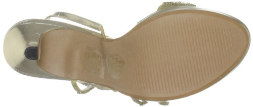 Unze Evening Sandals, Sandali col tacco donna Oro (Gold (L18452W))