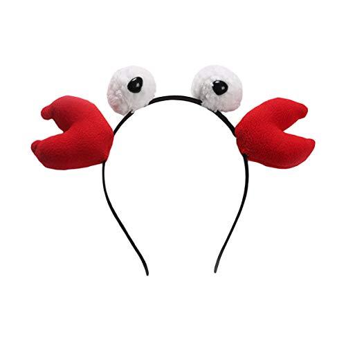 BESTOYARD Krabben Stirnbänder Party Haarbänder Tierhaarbänder für Geburtstag Cosplay Kostüm Party Favor Haarschmuck Kinder Mädchen Erwachsene Geschenk