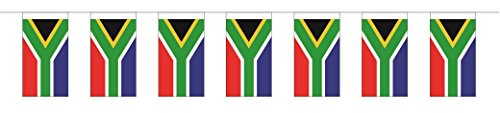 Preisvergleich Produktbild Fahnenkette Südafrika 5 m - partydiscount24®