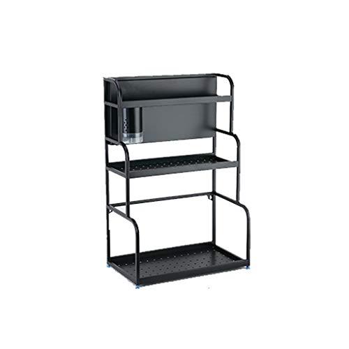 JQZLXCJZNJ 3-lagiges aufrechtes Aufbewahrungsbox-Gewürzglas-Abfüllgestell, Küchen-Aufbewahrungsgestell-Küchen-Aufbewahrungsbehälter (Size : B(Chopsticks Tube)) (Mikrowelle Stand Warenkorb)
