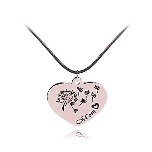 HKJCC Frauen Anhänger Halskette Herz Blume Süße Mode Moderne Schöne Gold 45 + 5 cm Halskette Schmuck 1 stück Für Geschenk Täglichen Urlaub