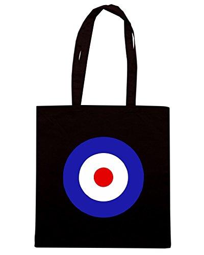 T-Shirtshock - Borsa Shopping OLDENG00586 mod target Nero