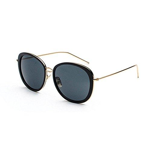 Aoligei Ovalen großen Rahmen schmalen Gesicht Sonnenbrille Flut Person Runde Gesicht Sonne Brille helle Farbe reflektierende Mode Sonnenbrillen