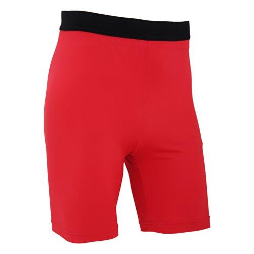 FLOSO - Leggings Corti da Sport - Uomo Rosso