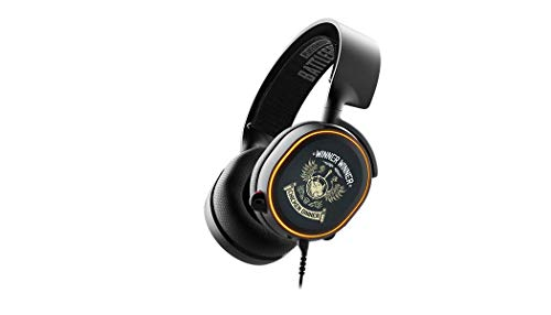 Steelseries Arctis 5 PUBG Edition Binaural Bandeau Noir - Casques Audio (Console de Jeu/PC/Jeux, Binaural, Bandeau, Noir, Orange, Rotatif)