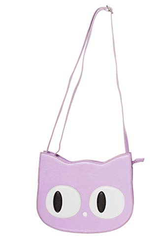 Banned Lilac Kitty Schultertasche Bag Katze Meow Mieze Gothic Lila