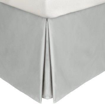 1pc Ägyptische Baumwolle 550Fadenzahl Bedskirt 53,3cm Länge von Tropfen UK Super King grau silber massiv 100% Baumwolle 550tc (21-zoll-king Bedskirt)