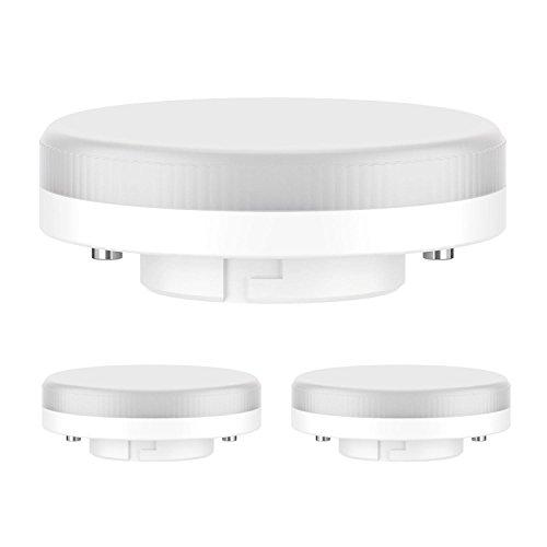 100 Warm-weiße Led (ledscom.de GX53 LED Strahler 6.3W=40W 450lm 100° warm-weiß, 3 Stk.)