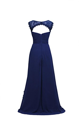 YiYaDawn Langes Abendkleid Ballkleid Brautmutterkleid für Damen Rosa