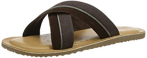 Geox u artie f, sandali punta aperta uomo, ((brown c0013), 42 eu