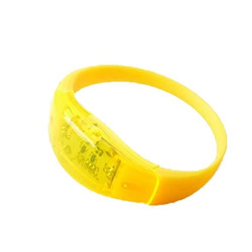 Prinbong Aktiviert Sound Control Led Blinkendes Armband Leuchten Armreif Armband Club Party Bar Jubel Leuchtender Handring Knicklicht (Aktiviert Armband Sound)