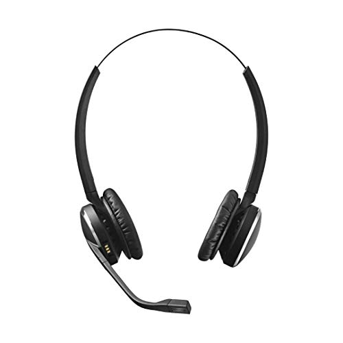 Jabra Pro 9465 Duo professionelles Wireless-DECT-Headset für  Festnetztelefon/Handy/PC-Softphone, Touchscreen-Basis mit Bluetooth, abhörsicher (2600 Cisco)