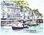 Kit für Stickerei, Motiv The British collection-padstow Harbour, Materialien im Kit enthalten