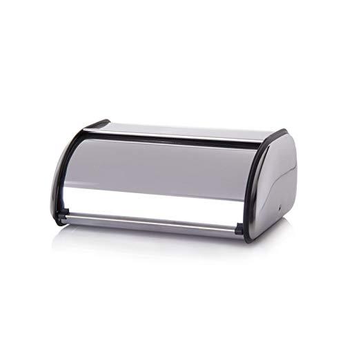 Hogar y Mas Panera Acero Inoxidable de Mesa para Cocina. Diseño Moderno 42X27X18,5 cm