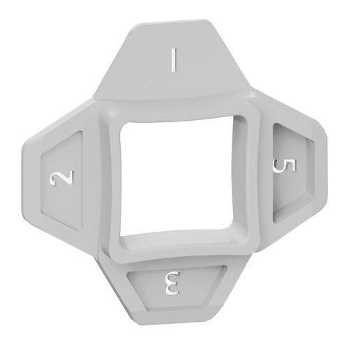 Karl Dahm Fliesenabstandhalter 1 mm, 2 mm, 3 mm, 5 mm, 4 in 1, Box 125 Stück -
