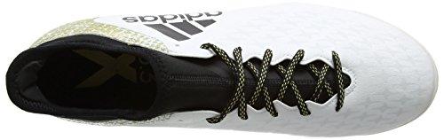 adidas Herren X 16.3 TF Fußball-Trainingsschuhe Weiß (Ftwr White/Core Black/Gold Metallic)