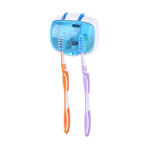 Fdit UV-Licht Zahnbürste Sterilisator Sanitizer Reiniger Halter Werkzeug an der Wand mit Haken und Power Adhesive - Familie Zahnbürste Sanitizer