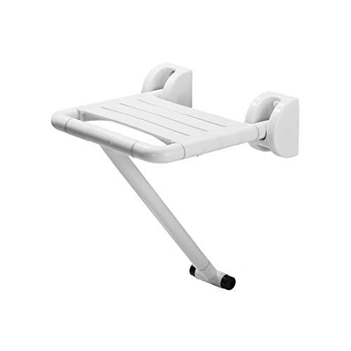 Klappstühle Faltbarer Duschstuhl Älterer Hocker Krankenhaus-Wohnung, die barrierefreien Wand-Stuhl badet (Farbe : Weiß)