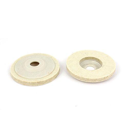 Aexit 84 Grob- & Feinpoliturzubehör mm x 15 mm x 10 mm aus Wolle Felt Polishing Pad Disc, Weiß, 2 Polierscheiben Stück Stück