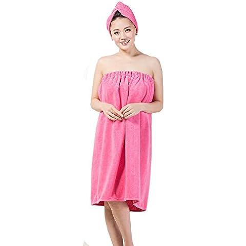 Asciugamano in microfibra da donna, con retro elasticizzato e chiusura