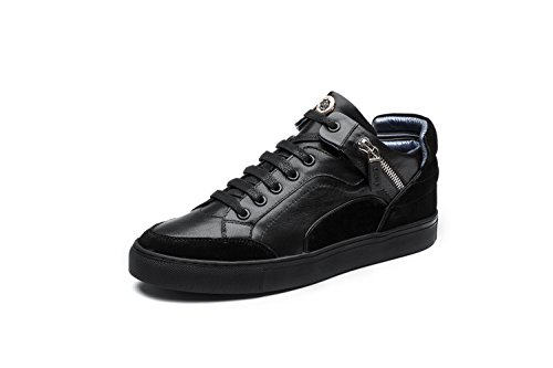OPP Baskets Mode Chaussures Fermeture Eclair Sneakers Basses Mixte Adulte Noir