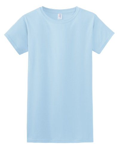 Gildan Damen Kurzarm T-Shirt Himmelblau
