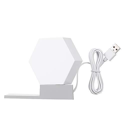 Galapara Cololight LED Modul System, 5 Watt Light Panels Rhythm Starter Kit mit Sprachsteuerung,WiFi Smartphone App Steuerung,Spleißen Lampe und Basisfarbe für Wohnzimmer Schlafzimmer Wand Haustür -