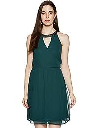 Kazo Synthetic Halterneck Dress