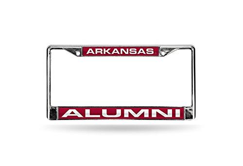 Rico NCAA Arkansas Razorbacks Alumni Laser-Cut Inlaid Standard Kennzeichenrahmen Chrom - Arkansas Razorbacks Auto