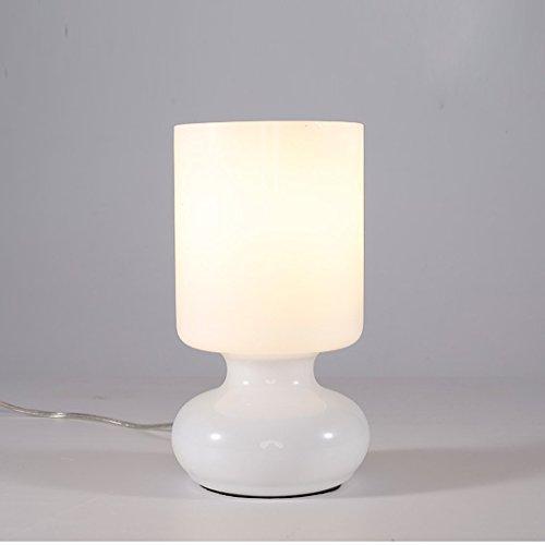 WLG Lampe de table de ménage, lampe de chevet , Personnalité Simple et élégant Salon Chambre à coucher Den Petite lampe de chevet Lampe de table classique Lampe de lecture créative en verre Veilleuse