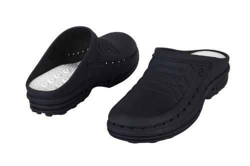 Clog-Chaussure professionnelle WOCK-Stérilisable; Antistatique; Antidérapante; Absorption des chocs Noir/Noir
