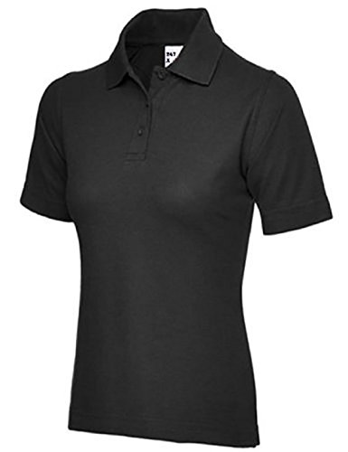 Ladies Pique Polo Shirt Size UK 8 to 26 Plus All Colours NEW Casual Sports Gym Work