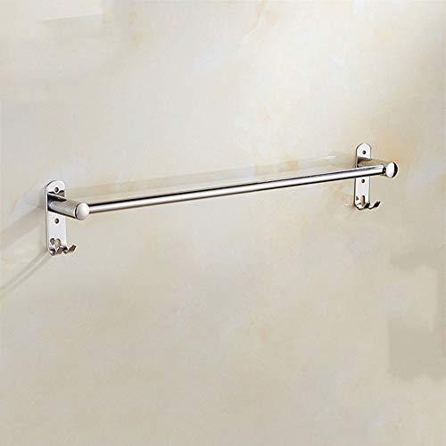 XJ&DD Bain Porte-torchons,Acier Inoxydable 304 Barre de Serviette Simple Tige. Durable Porte-Serviettes Double pour Salle de Bains Cuisine Office-A 30cm(12inch)