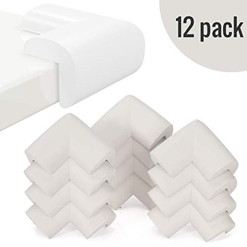 InnoBeta® Protecciones para esquinas extra gruesos 12 piezas. Protecciones para bebés. Protecciones para las esquinas, Blanco, Adjunto con un regalo gratuito.