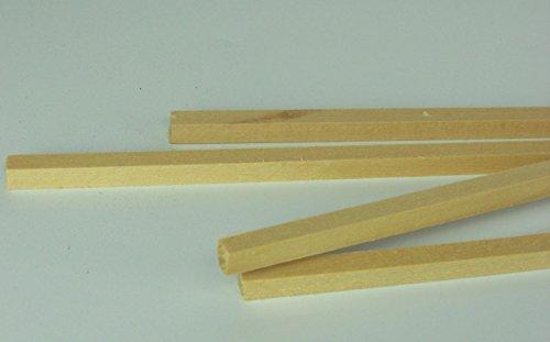 4 St 0,8x0,8x50 cm (1,85EUR/Meter) Kanthölzer Lindenholz Zum Krippenbau