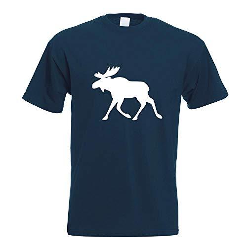 Kiwistar Elch/Schweden T-Shirt Motiv Bedruckt Funshirt Design Print