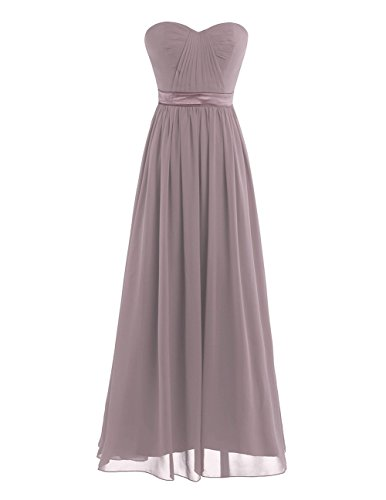Tiaobug Damen Kleid Elegant Abendkleider Lang Chiffon Brautjungfernkleid festlich Hochzeits Kleider...