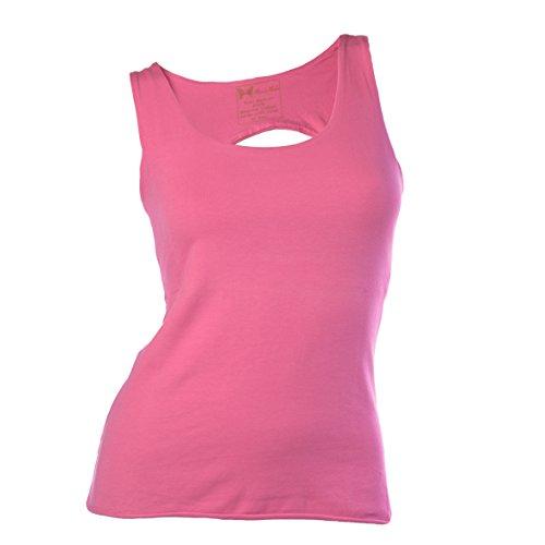 Maria Malo Yoga Top, T-Shirt de Sport Femme Rose