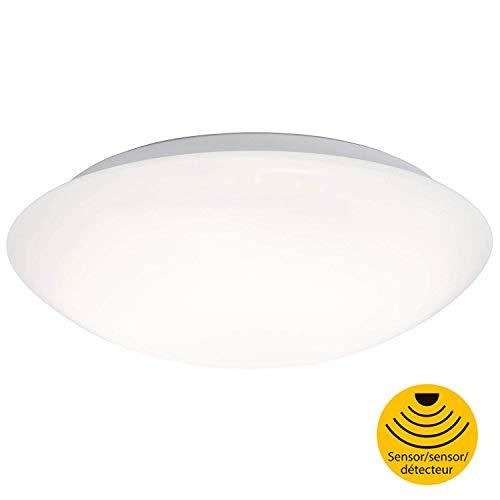 Briloner Leuchten 3362-016 LED Deckenlampe mit Bewegungsmelder, Deckenleuchte mit Tageslichtsensor (optional einstellbar), 15W, 1500 Lumen, Ø27,8 cm, Metall, 15 W, Ø 27.8cm