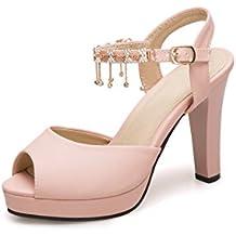 the latest e0bd3 e9afe Tacon Amazon Zapatos Mujer es Plataforma Rosa vvgpwqZ4xn