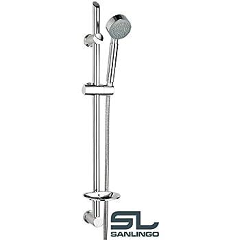 Dusch Set Brausegarnitur Duschstange mit variable Bohrungen