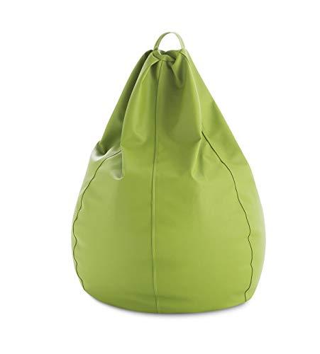 textil-home Diver-Pera-1 Puf - Pera Moldeable XXL Puff,Tejido Polipiel, Doble Repunte, Pistacho, 90 x 90 x 135 cm, 320 L