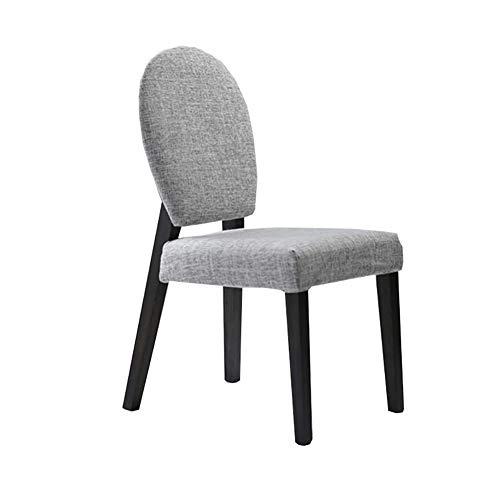 Esszimmerstühle YXX Moderne Wohnzimmer Armless Rückenstühle, Holz Stoff gepolstert Esstischstuhl,...