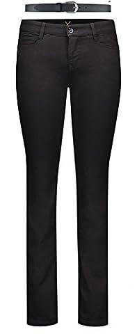 MAC Dream Damen Jeans Hose 0355l540190, Farbe:D999 black black;Größe:W40/L32
