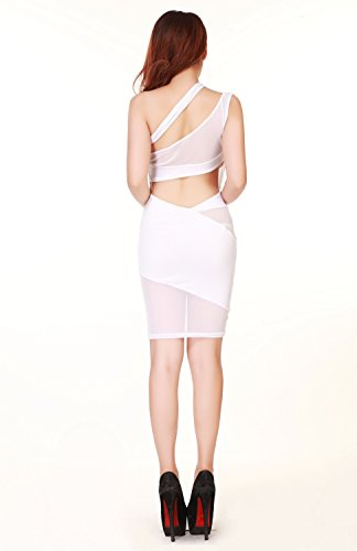 sexylady - Robe -  Femme taille unique Blanc - Blanc