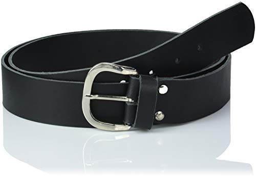 Echtledergürtel Ledergürtel 3cm Breite Deutsche Qualität BW 90cm bis 150cm Überlänge Sondergröße Gürtel Leder Herren Damen Farben Muster Motive Belt Buckle Leather Belt Real Leather Genuine (170cm XXL Länge, schwarz)