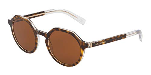 Ray-Ban Herren 0DG4353 Sonnenbrille, Mehrfarbig (Top Havana On Crystal), 50.0
