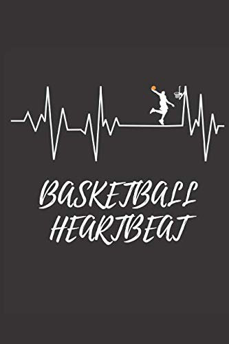 Basketball Heartbeat: Basketball Notebook, Journal, Diary (110 Pages, Blank, 6 x 9) por Notebook Designs