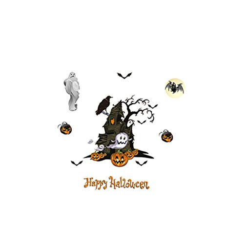 LCLrute Netter entfernbarer Aufkleber-Schwarze Katzen-Wand-Aufkleber-Fenster-Aufkleber Halloween (C)